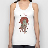 lady Tank Tops featuring Lady Butterfly by Paula Belle Flores