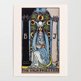 II. The High Priestess Tarot Card Poster