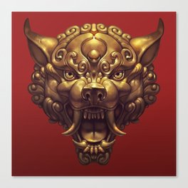 Foo Wolf Red Canvas Print