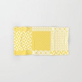 Yellow Patchwork Decoration Marrakesh Tiles Spanish Tails Decor Sunflower Art Kitchen Bath Hand & Bath Towel