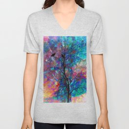 Love Birds Abstract #society6 #decor #lovebirds by Lena Owens @OLena Art Unisex V-Neck