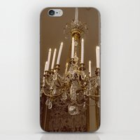 chandelier iPhone & iPod Skins featuring Chandelier by Pati Designs