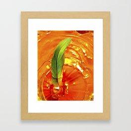 Portal of Creation (orange & green) Framed Art Print