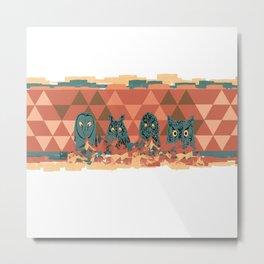 Four owls Metal Print