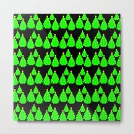 Christmas tree pattern Metal Print