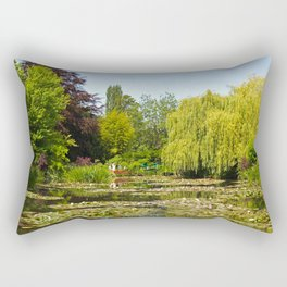 Summer Water Garden at Giverny Rectangular Pillow