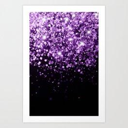 Dark Night Purple Black Glitter #1 (Faux Glitter) #shiny #decor #art #society6 Art Print