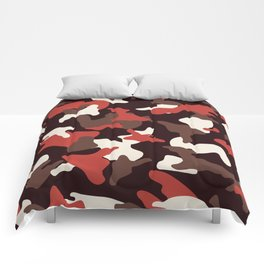 Red camo camouflage army pattern Comforters