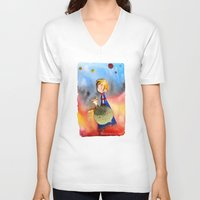 little prince V-neck T-shirts featuring Little Prince by Jose Luis Ocana