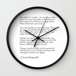 for what it's worth - fitzgerald quote Wall Clock