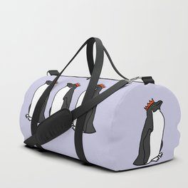 Classic Penguin with a Party Hat Duffle Bag