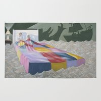 neverland Area & Throw Rugs featuring neverland by Justin Kendall