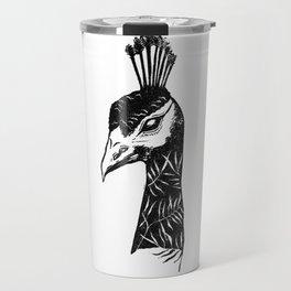 Palm Peacock Travel Mug