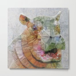 abstract hippo Metal Print