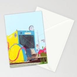 The asphalt cutter Stationery Cards