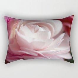 pink garden rose Rectangular Pillow