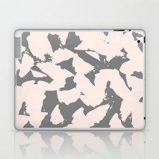 Pastel Pink Bird Wings on Grey Laptop & iPad Skin