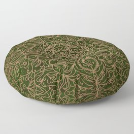 Emerald Filigree Floor Pillow