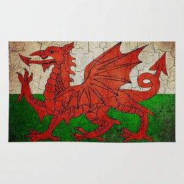 Vintage Wales flag Rug