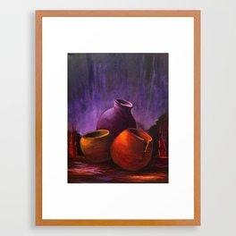 Old Pots Framed Art Print