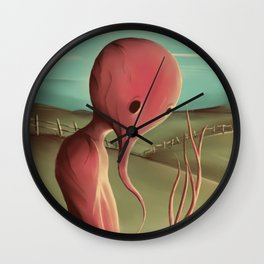 Waiting for the harvest Wall Clock