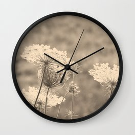 Lace in the Meadow Wall Clock