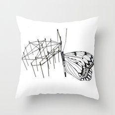 butterfly effect TWO Throw Pillow