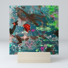 The Intriguing Life Under The Sea Abstract Painting Mini Art Print