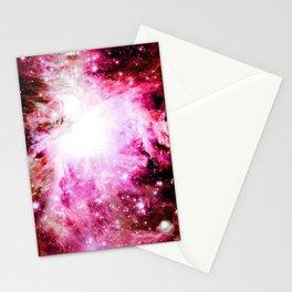 Orion Nebula  Burgundy pink Stationery Cards