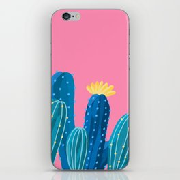 blue cacti iPhone Skin
