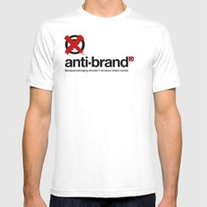 anti-brand® White MEDIUM Mens Fitted Tee