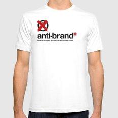anti-brand® MEDIUM White Mens Fitted Tee
