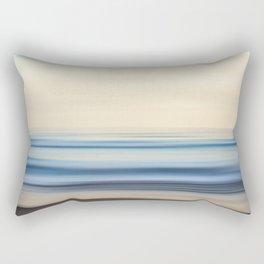 A Coastal Blur Rectangular Pillow
