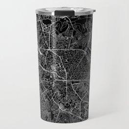 Bucharest Black Map Travel Mug
