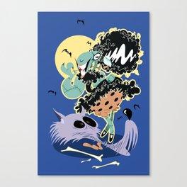 Frankensheep Meets the Wolf-Man Canvas Print