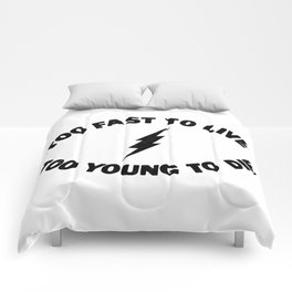 Too Fast To Live Too Young To Die Punk Rock Flash - Black Comforters