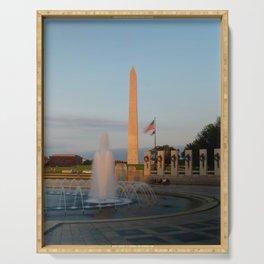 Washington Monument 2 Serving Tray