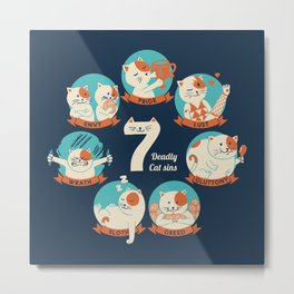 Cats Seven deadly Sins Metal Print