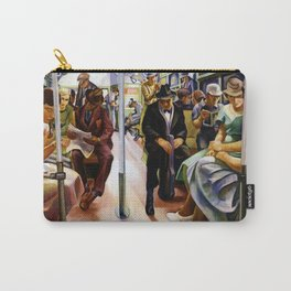 American Masterpiece 'Subway Riders' portrait painting by Lily Furedi Carry-All Pouch