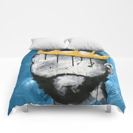Naturally King BLUE Comforters