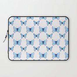 Blue Butterflies Pattern Butterfly Watercolor Laptop Sleeve