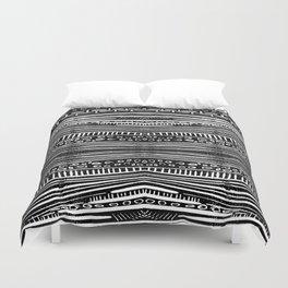 Linocut Tribal Pattern Duvet Cover