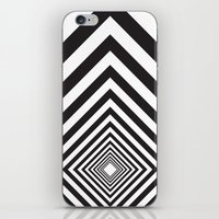 square iPhone & iPod Skins featuring Square by Vadeco