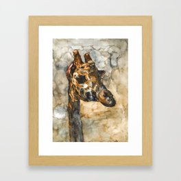 GIRAFFE#1 Framed Art Print
