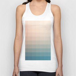 Lumen, Turquoise and Pink Glow Unisex Tank Top