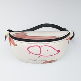 Dachshund Delight | Watercolour | Dogs | Pattern Fanny Pack