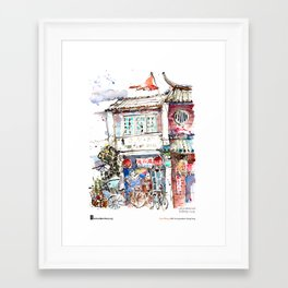 "Paul Wang, ""Armenian Street, Penang"" Framed Art Print"