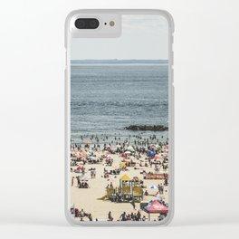 Beach Daze Clear iPhone Case