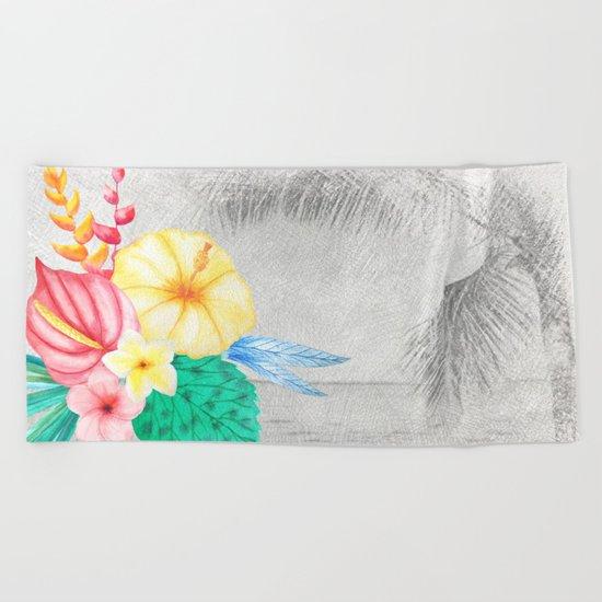 Tropical Beach #1 Beach Towel