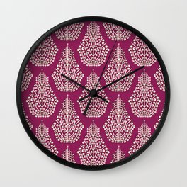 SPIRIT purple cream Wall Clock